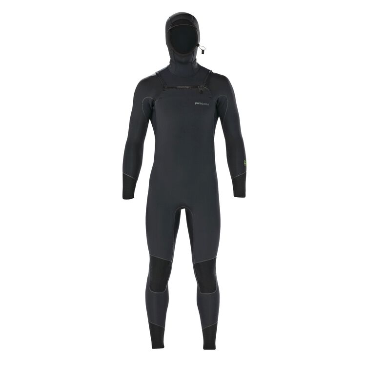 M'S R2 FZ HOODED FULL SUIT, Black (BLK)