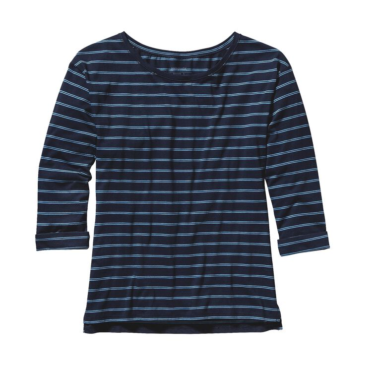 W'S SHALLOW SEAS TOP, Bonita Stripe: Navy Blue (BTNB)