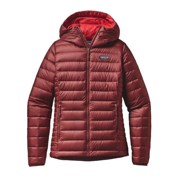 W'S DOWN SWEATER HOODY, Drumfire Red (DRMF)