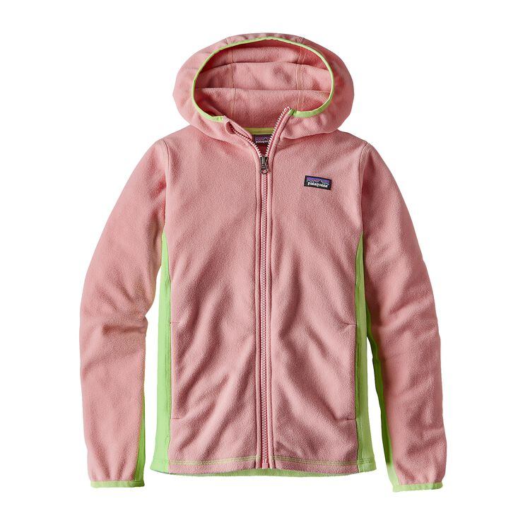 GIRLS' MICRO D HOODY, Feather Pink (FEAP)