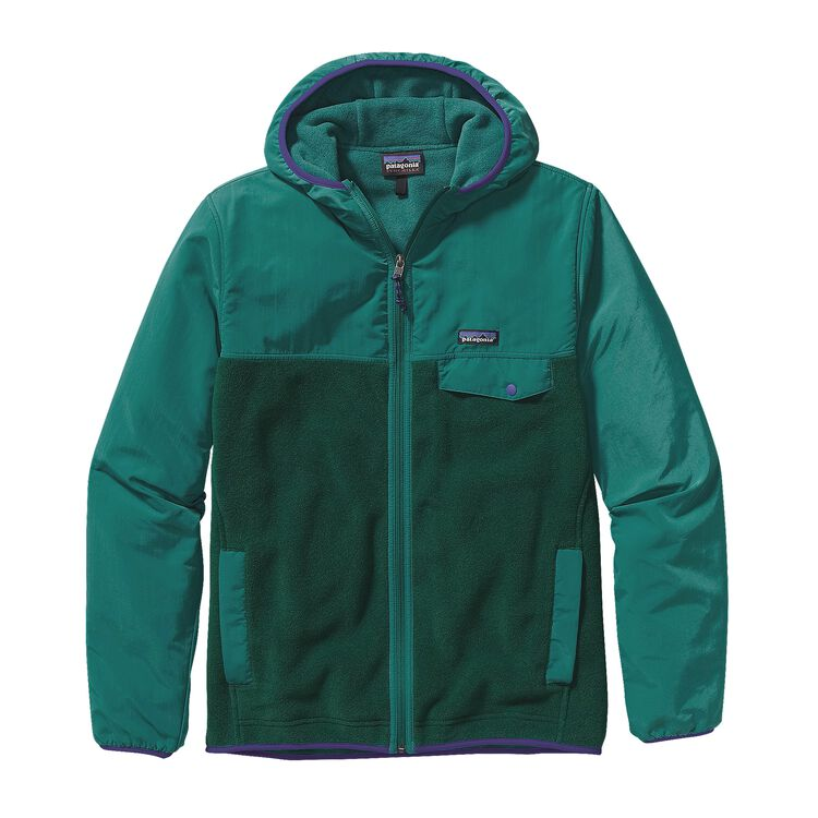 M'S SHELLED SYNCH SNAP-T HOODY, Hunter Green (HNT)