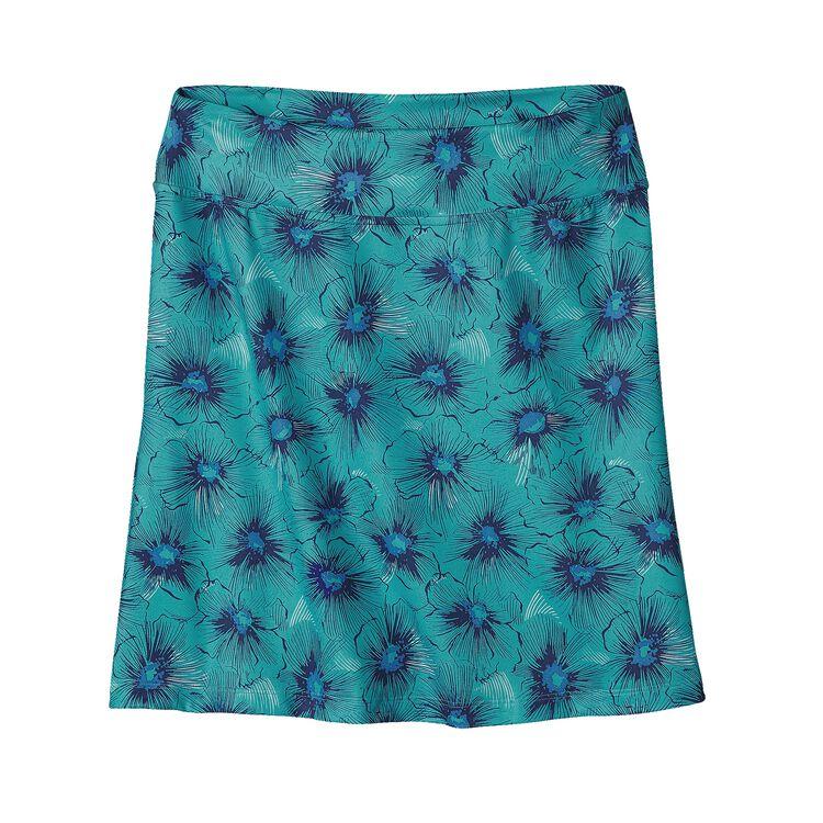 W'S MORNING GLORY SKIRT, Seaflower Petite: Howling Turquoise (SPHT)