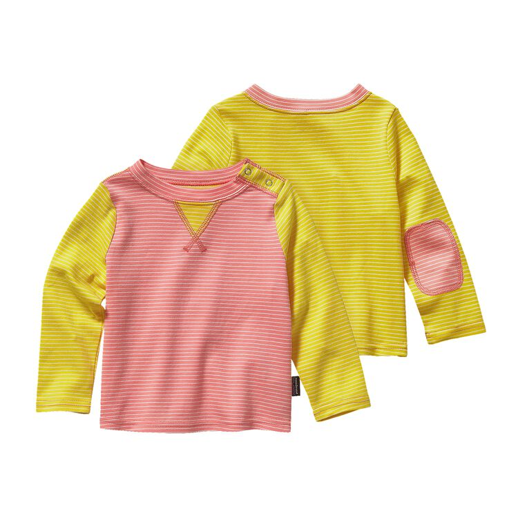 BABY COZY COTTON CREW, Itsy Bitsy Stripe: Pickled Pink (ISPP)