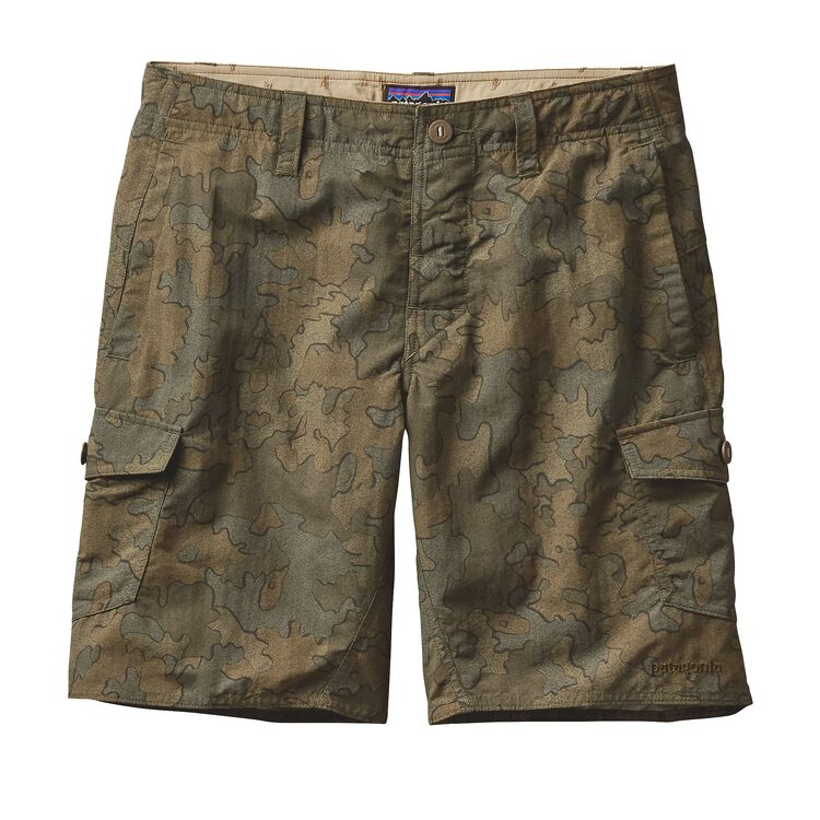 M'S WAVEFARER CARGO SHORTS - 20 IN., Sycamore Camo: Fatigue Green (SYFG)