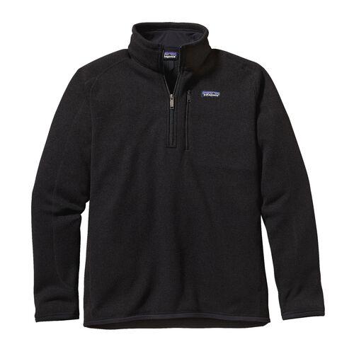 メンズ・ベター・セーター・1/4ジップ, Black (BLK)