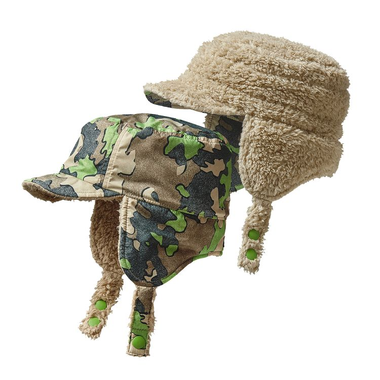 BABY REVERSIBLE SHELL HAT, Sycamore Camo: Hydro Green (SCHG)