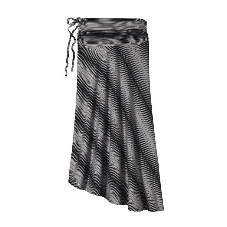 W'S KAMALA SKIRT, Reflection Stripe: Feather Grey (RFTY)