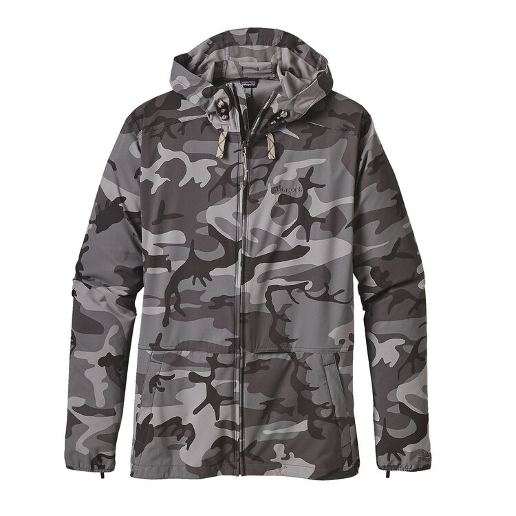 M'S STRETCH TERRE PLANING HOODY, Forest Camo: Forge Grey (FCFG)