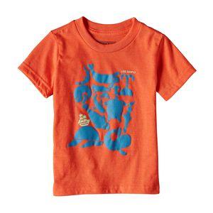 ベビー・リブ・シンプリー・シー・バズ・コットン/ポリ・Tシャツ, Campfire Orange (CMPO)