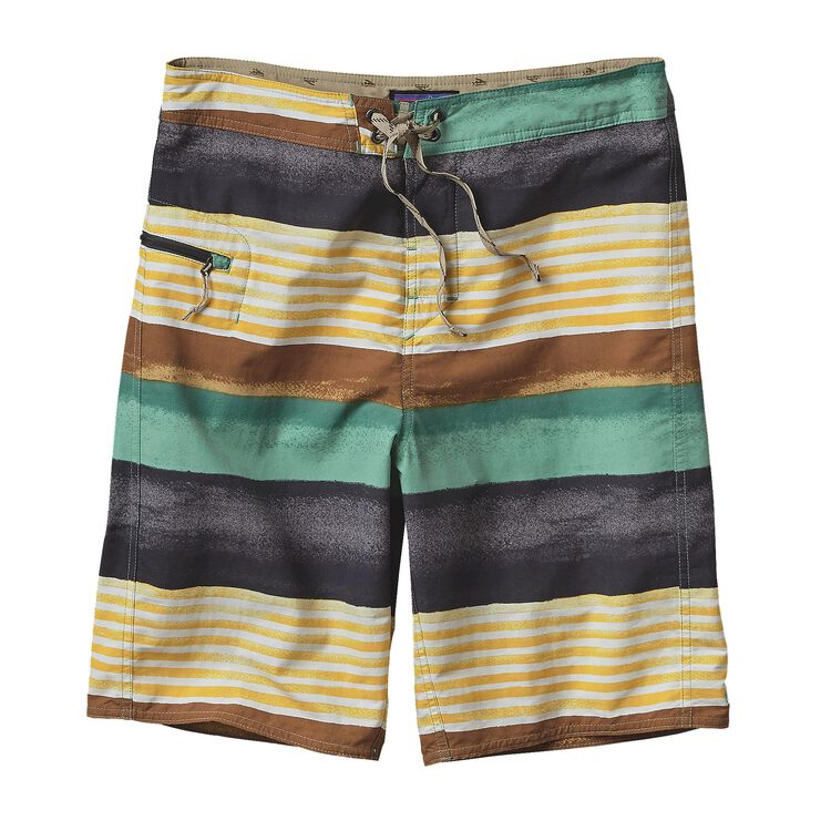 M'S PRINTED WAVEFARER BOARD SHORTS - 21, Painted Fitz Stripe: Forge Grey (PFGY)