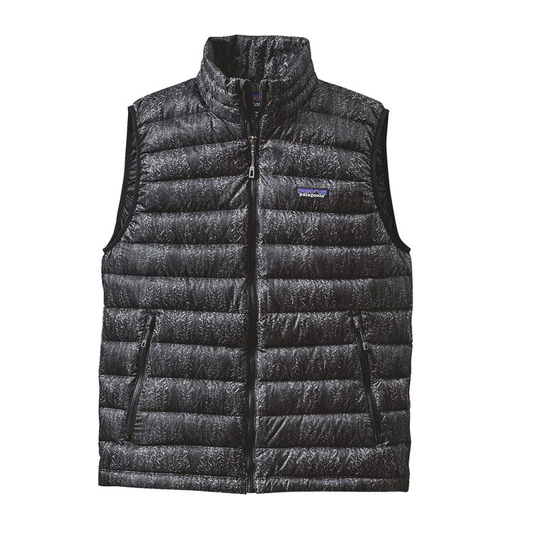 M'S DOWN SWEATER VEST, Forestland: Black (FOBK)