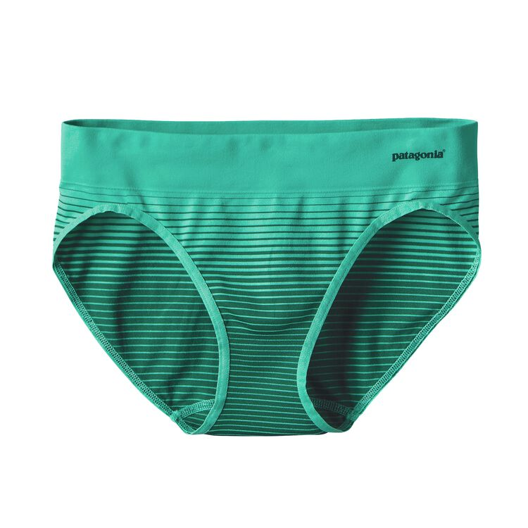 W'S ACTIVE BRIEFS, Ocean Stripe: Galah Green (OSGG)
