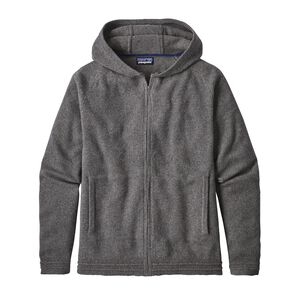 M's Recycled Cashmere Hoody Sweater, Feather Grey (FEA)