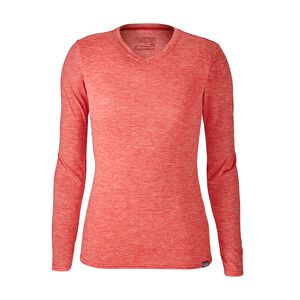 W's Capilene® Daily Long-Sleeved T-Shirt, Maraschino - Peak Pink X-Dye (MAPX)