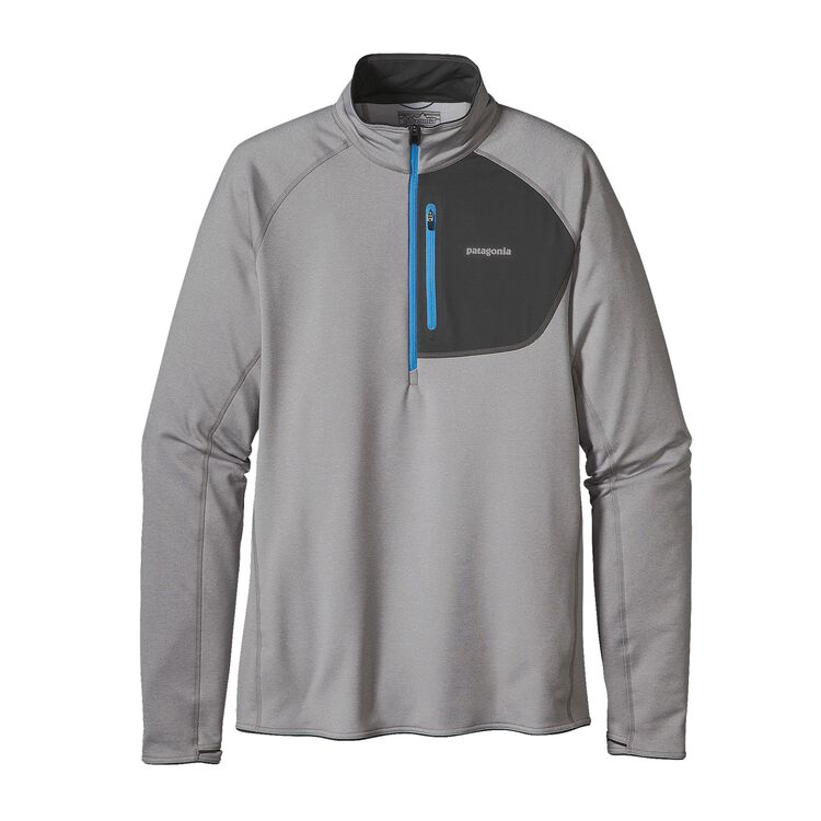 M'S THERMAL SPEEDWORK ZIP NECK, Drifter Grey (DFTG)