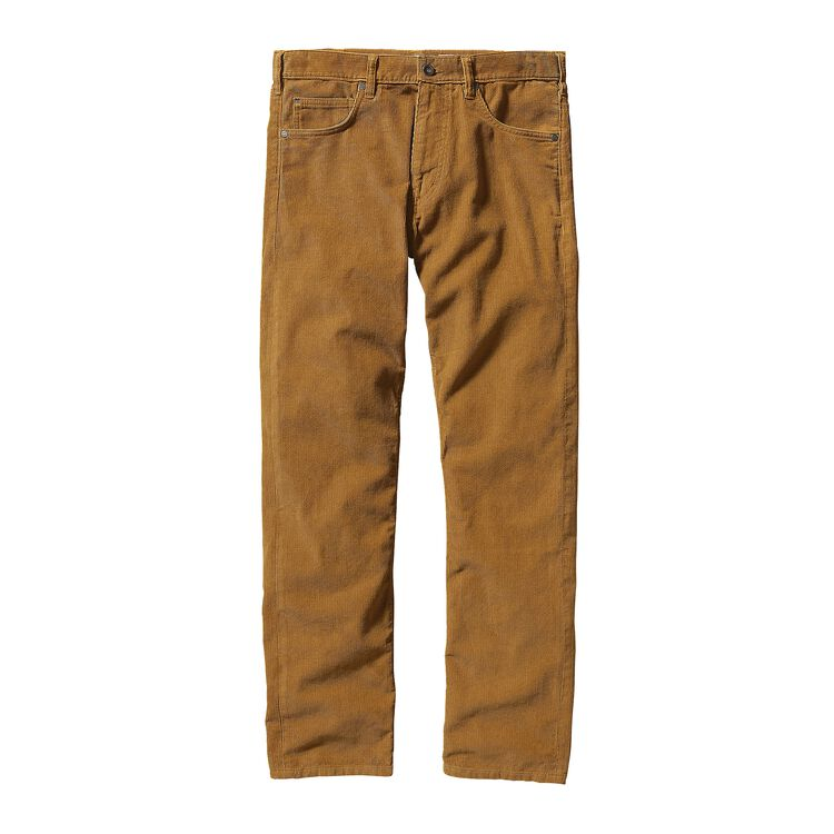 M'S STRAIGHT FIT CORDS - SHORT, Oaks Brown (OKSB)