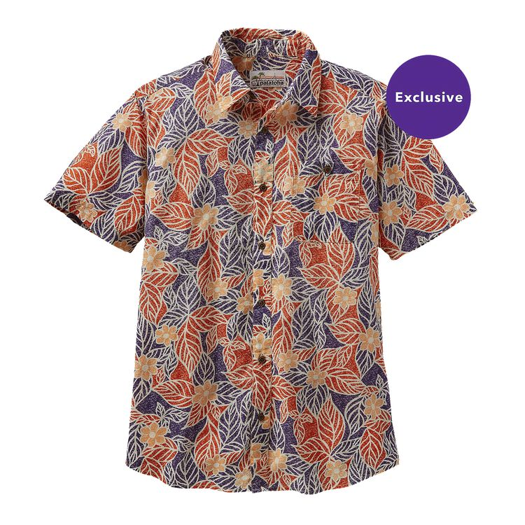 M'S CLASSIC PATALOHA SHIRT, Mountain Dogwood: Cusco Orange (MDCO)