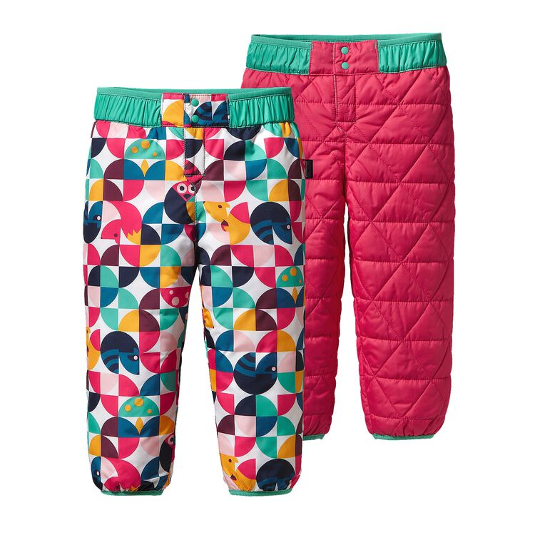 BABY REVERSIBLE PUFF-BALL PANTS, Playtime Pals: Rossi Pink (PRYP)