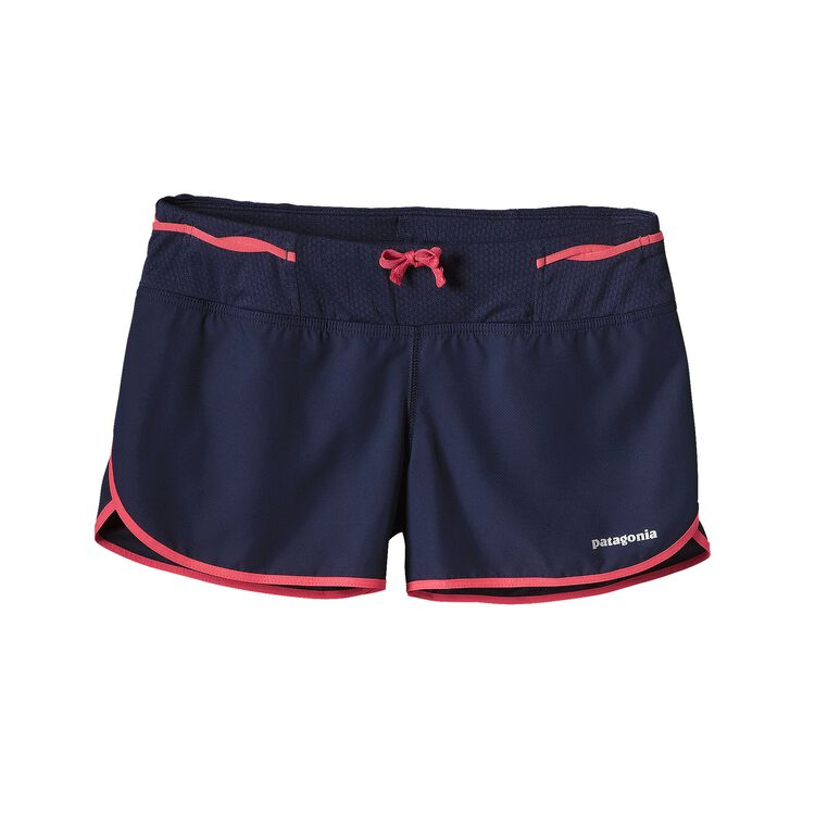 W'S STRIDER PRO SHORTS - 3 IN., Navy Blue w/Shock Pink (NYSP)