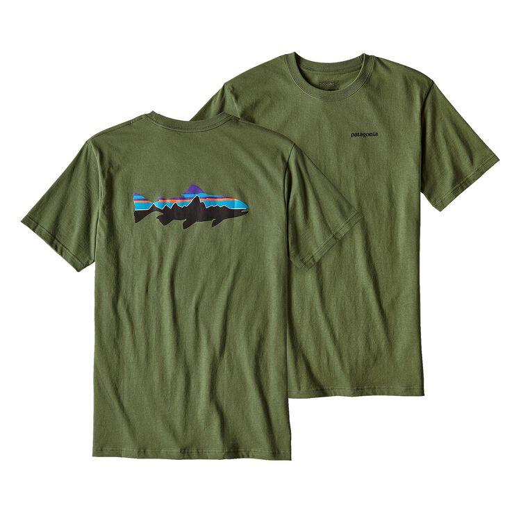 メンズ・フィッツロイ・トラウト・コットン・Tシャツ, Buffalo Green (BUFG)