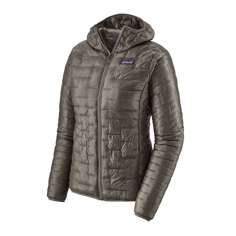 W'S MICRO PUFF HOODY, Feather Grey (FEA)