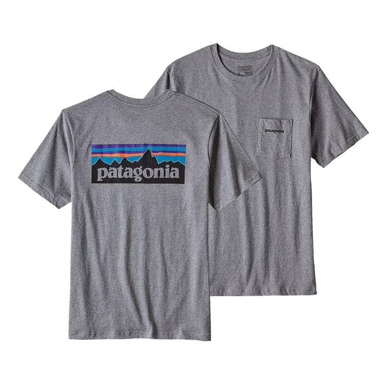 メンズ・P-6ロゴ・コットン・ポケット・Tシャツ, Gravel Heather (GLH)