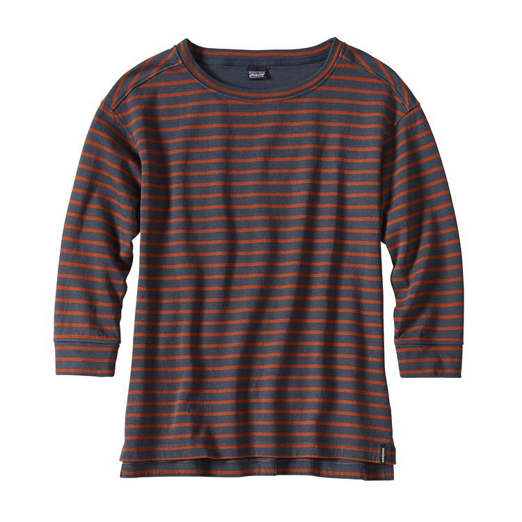 W'S MISTY MEADOW TOP, Freshwater Stripe: Smolder Blue (FSHB)