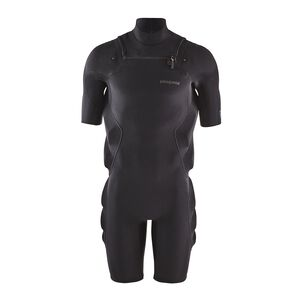 メンズ・ユーレックス・フロントジップ・スプリング・インパクト・スーツ, Black (BLK)