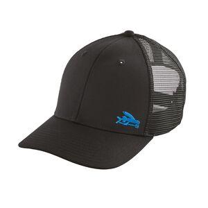 スモール・フライング・フィッシュ・トラッカー・ハット, Black w/Blue (BLBU)
