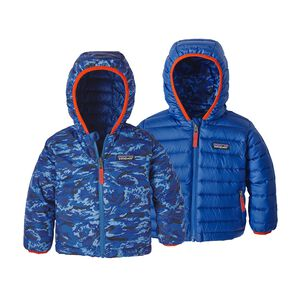 Baby Reversible Down Sweater Hoody, El Nino Camo Small: Viking Blue (ENSV)