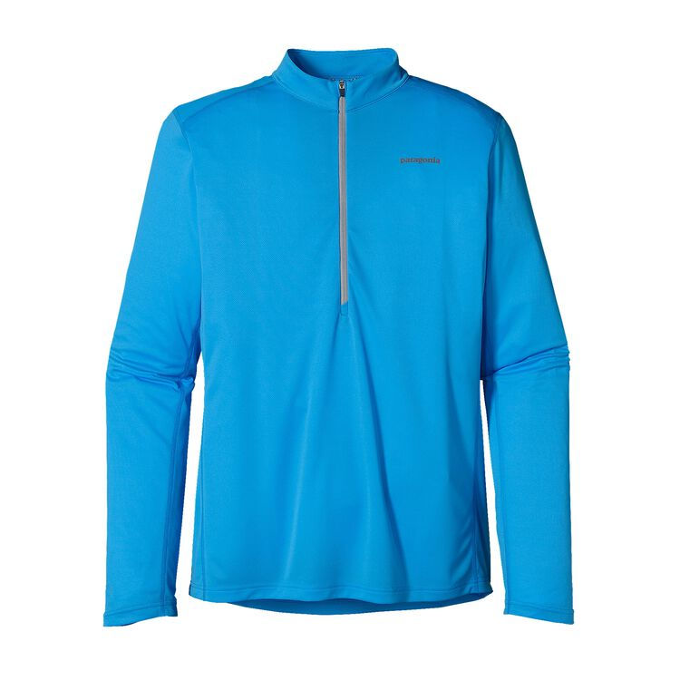M'S L/S FORE RUNNER ZIP NECK, Electron Blue (ECTB)