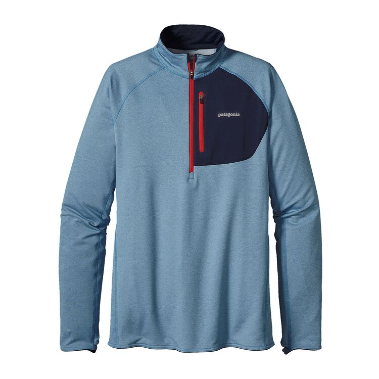 M'S THERMAL SPEEDWORK ZIP NECK, Catalyst Blue (CTYB)