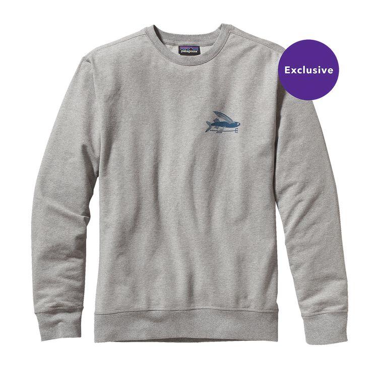 M'S FLYING FISH MW CREW SWEATSHIRT, Feather Grey (FEA)