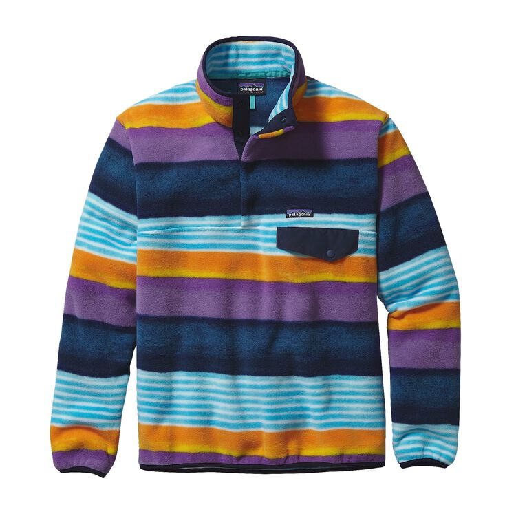 M'S LW SYNCH SNAP-T P/O, Painted Fitz Stripe: Navy Blue (PZNV)