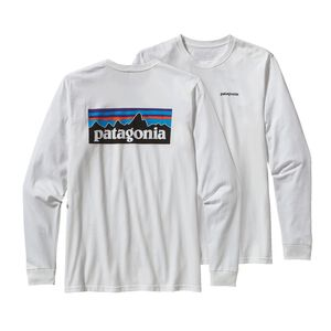 M's Long-Sleeved P-6 Logo Cotton T-Shirt, White (WHI)
