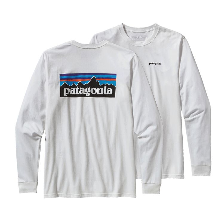 M'S L/S P-6 LOGO COTTON T-SHIRT, White (WHI)
