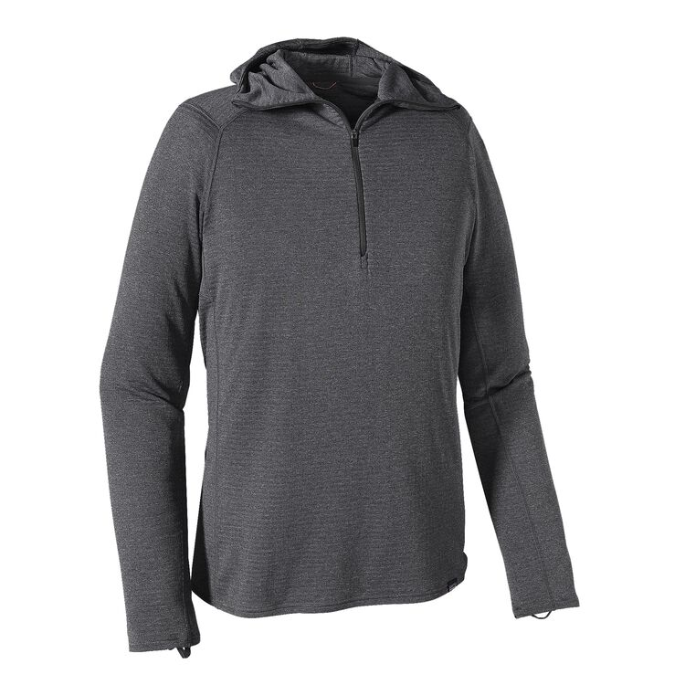 M'S CAP TW ZIP NECK HOODY, Forge Grey - Feather Grey X-Dye (FGX)
