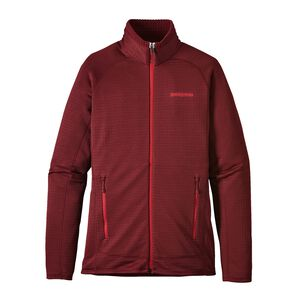 W'S R1 FULL-ZIP JKT, Drumfire Red (DRMF)