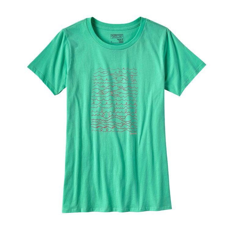 ウィメンズ・サーフ・ライター・コットン・クルー・Tシャツ, Galah Green (GLHG)