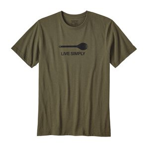 M's Live Simply® Spork Cotton/Poly Responsibili-Tee®, Buffalo Green (BUFG)