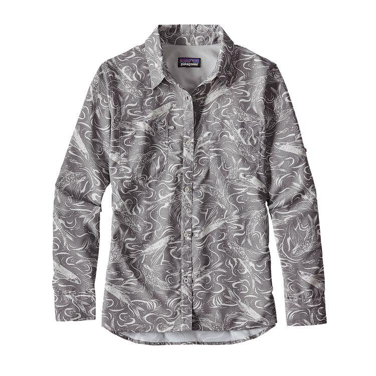 W'S L/S SOL PATROL SHIRT, Fish Splash: Tailored Grey (FSTG)