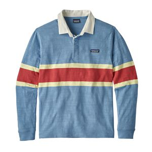 M's Long-Sleeved Lightweight Rugby Shirt, Rugby Big: Railroad Blue (RUGR)