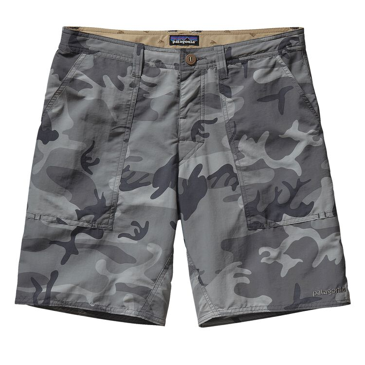 M'S WAVEFARER STAND-UP SHORTS - 20 IN., Forest Camo: Forge Grey (FCFG)