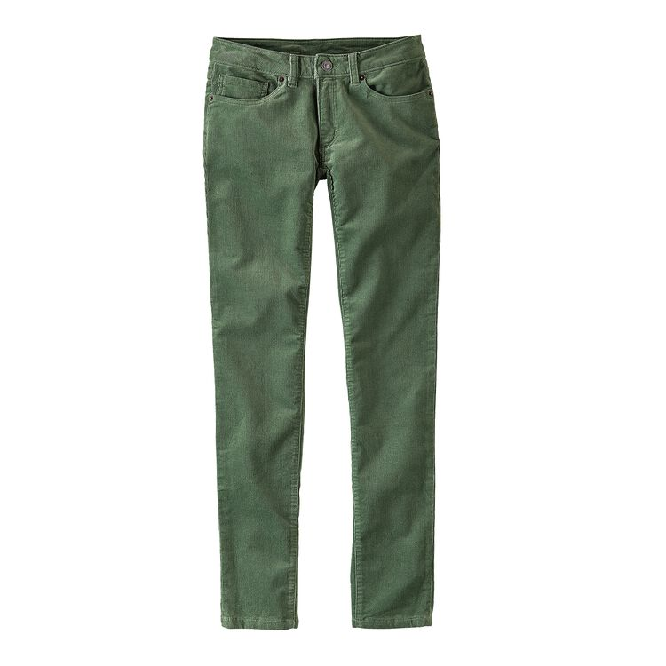 W'S FITTED CORDUROY PANTS, Buffalo Green (BUFG)