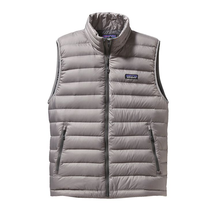 M'S DOWN SWEATER VEST, Feather Grey (FEA)