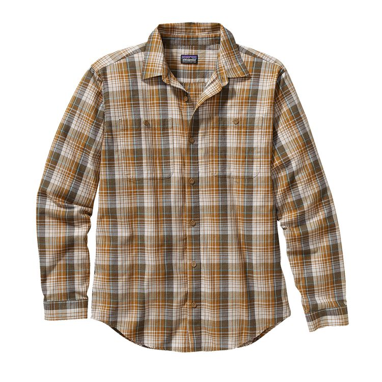 M'S L/S PIMA COTTON SHIRT, Saddler: Bear Brown (SDLB)
