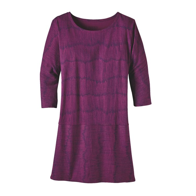 W'S KAMALA 3/4 SLEEVE DRESS, Barky Bark: Violet Red (BBVR)