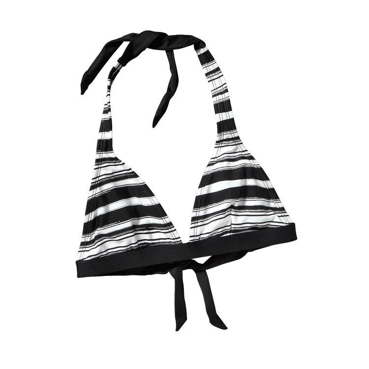 W'S BOUCAU HALTER TOP, Overseas Stripe: White (OSWT)