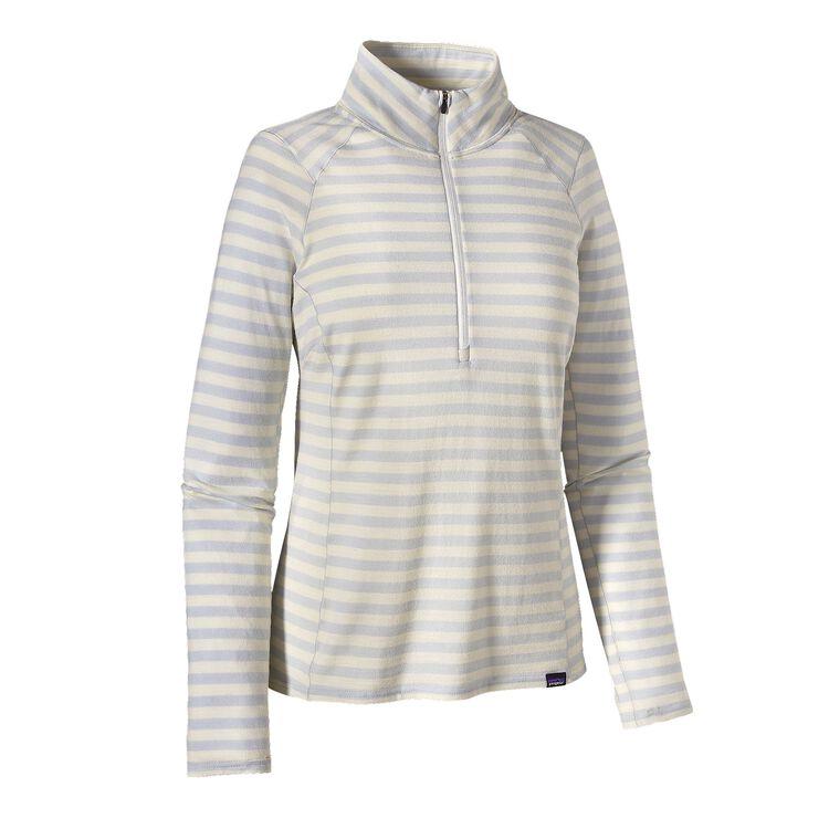 W'S MERINO TW ZIP NECK, Pearson Stripe: Birch White/Tailored Grey (PBTG)
