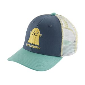 Kids' Trucker Hat, Live Simply Seal: Dolomite Blue (LSDO)